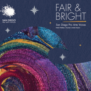 CD cover illustration of night sky and sparkling, colorful wave